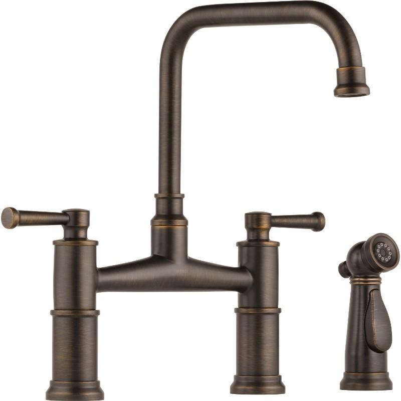 Buy Brizo 62525LF Two Handle Bridge Kitchen Faucet with
