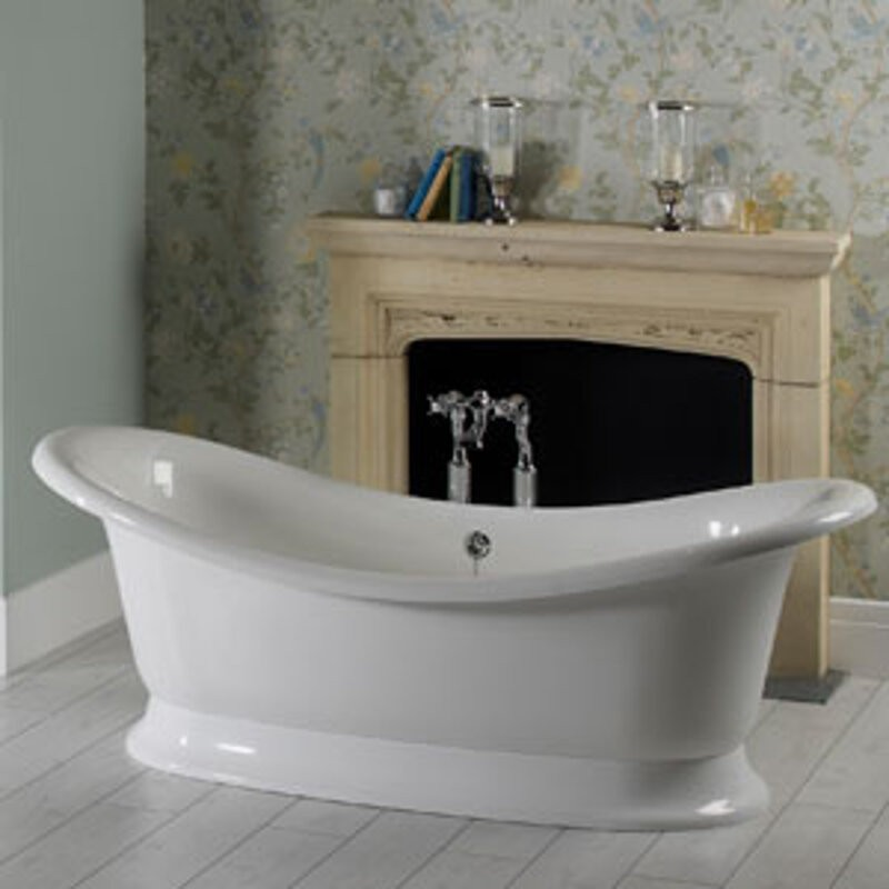 kitchen towel bar havertys tables buy victoria + albert marlborough dual ended tub and white ...