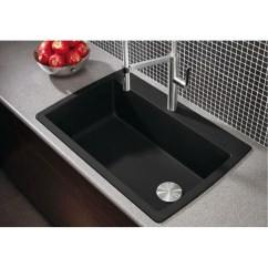 Moen Kitchen Sink Faucets Corner Cabinet Ideas Buy Blanco Diamond Super Single Silgranit White At ...