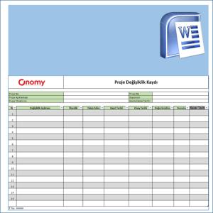 Onomy Proje Set 1 - Proje Değişiklik Kaydı 0