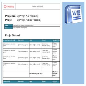 Onomy Proje Set 2 - Proje Bütçesi