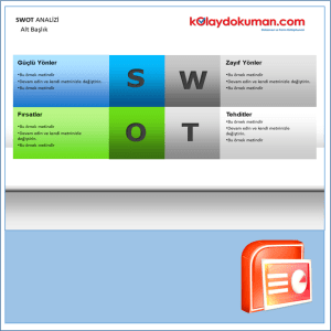 swot analiz power point şablonu 15