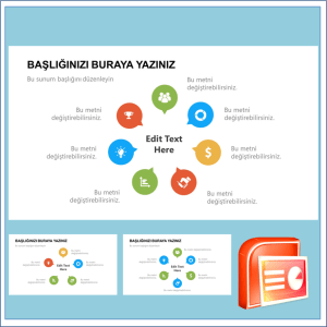İnfografik Damlalar Power Point Şablonu
