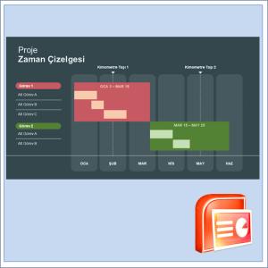 Proje Zaman Çizelgesi Gantt Şeması Şablonu