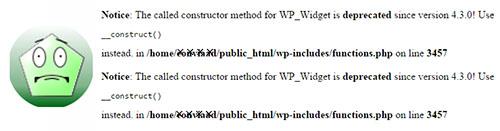 خطای Notice: The called constructor method در وردپرس
