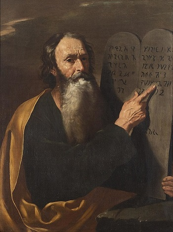 Moses with Commandments