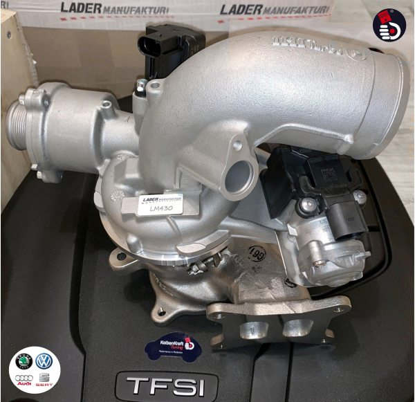 LM430 Turbo Upgrade AUDI B9 A5 A4 A6 Q5 PORSCHE Macan 2.0T 180 KW 185 KW Hybrid Turbocharger Upgradelader KolbenKraft Tuning Ladermanufaktur r