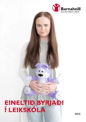 2015-16 Forsíða Blaðs Barnaheilla 2015. Forsíðuna prýddi Selma Björk Hermannsdóttir