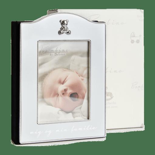 "Flot forsølvet fotoalbum ""Mig & min familie"" Bambino fra Nordahl Andersen ""Noa Kids Barnedåb"" (157-86631) | Koldsø Fotografi Webshop"