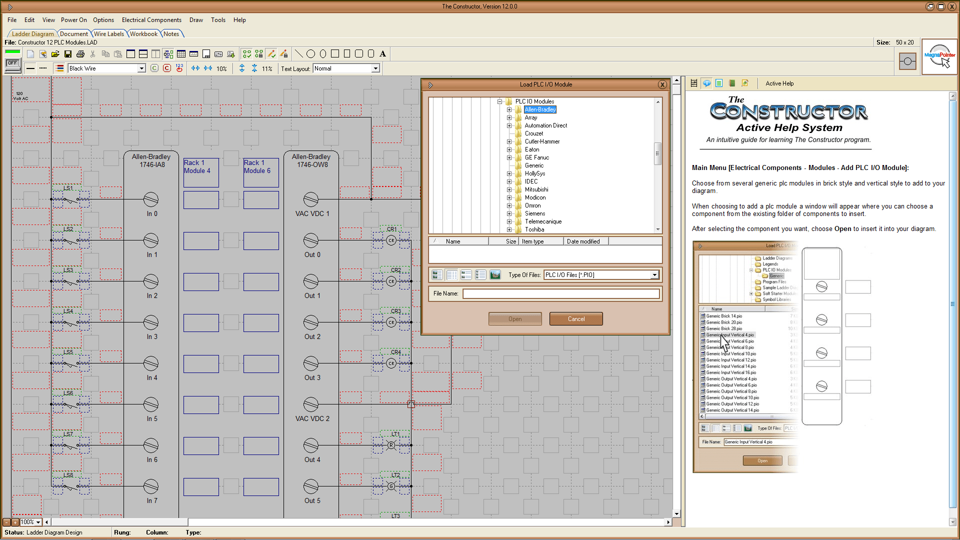electrical ladder diagram software wiring diagrams for guitar humbuckers circuits simulation