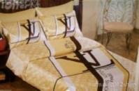 002 Louis Vuitton 6pcs Authentic LUXURY BED SET SATIN made ...