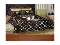 001 Louis Vuitton 6pcs Authentic LUXURY BED SET SATIN made ...