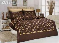 004 Louis Vuitton 6pcs Authentic LUXURY BED SET SATIN made ...