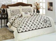005 Louis Vuitton 6pcs Authentic LUXURY BED SET SATIN made ...