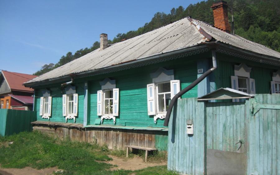Zabudowa drewniana nad Bajkałem