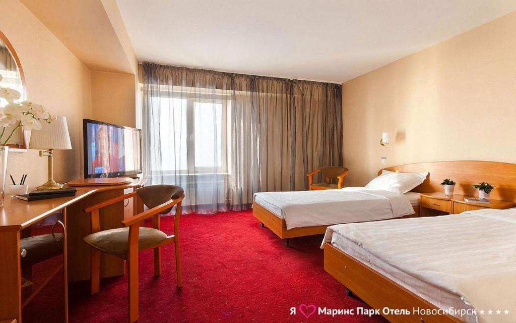 Pokój dwuosobowy w hotelu Marinspark w Nowosybirsku
