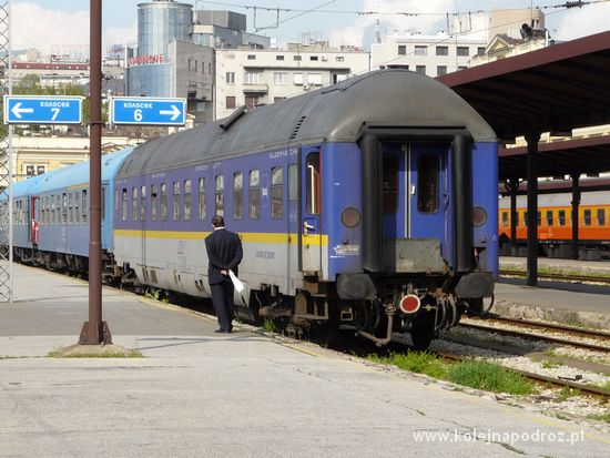 Pociąg Belgrad - Bukareszt - wagon sypialny
