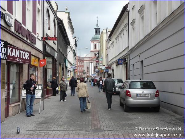Ulica w centrum Rybnika