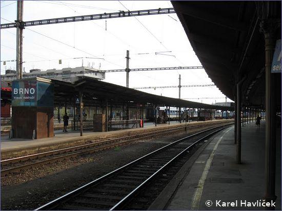 Brno hlavní nádraží - peron