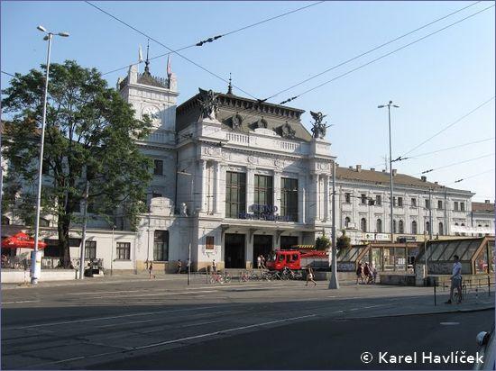 Brno hlavní nádraží - wejście główne