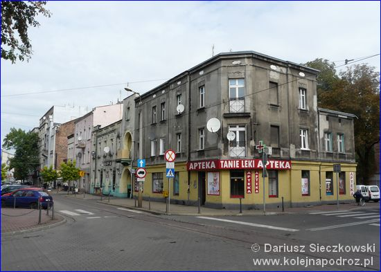 Sosnowiec - skrzyżowanie ulic Małachowskiego i Mościckiego