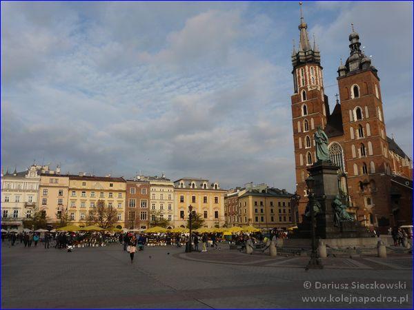 Kraków - Rynek Główny i Kościół Mariacki