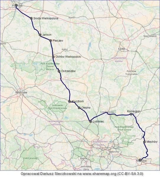 Mapa TLK Pułaski