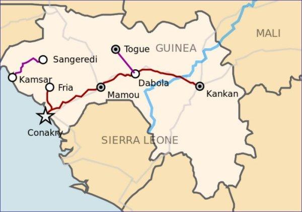 Gwinea mapa