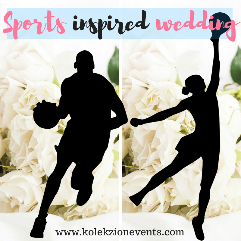 wedding theme, wedding inspired by sports, sports wedding, wedding planning,