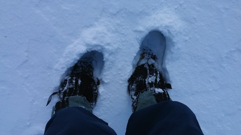 Főleg az Apró Kövek közelében egyre mélyebb lett a hó...