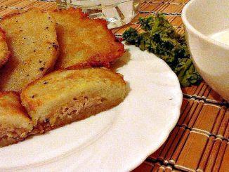 Картопляні деруни з м' ясом. Рецепт приготування