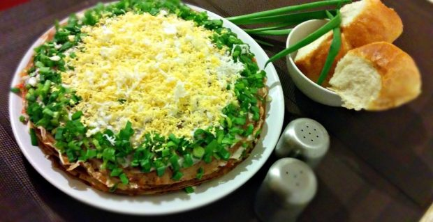 Печінковий торт, рецепт приготування