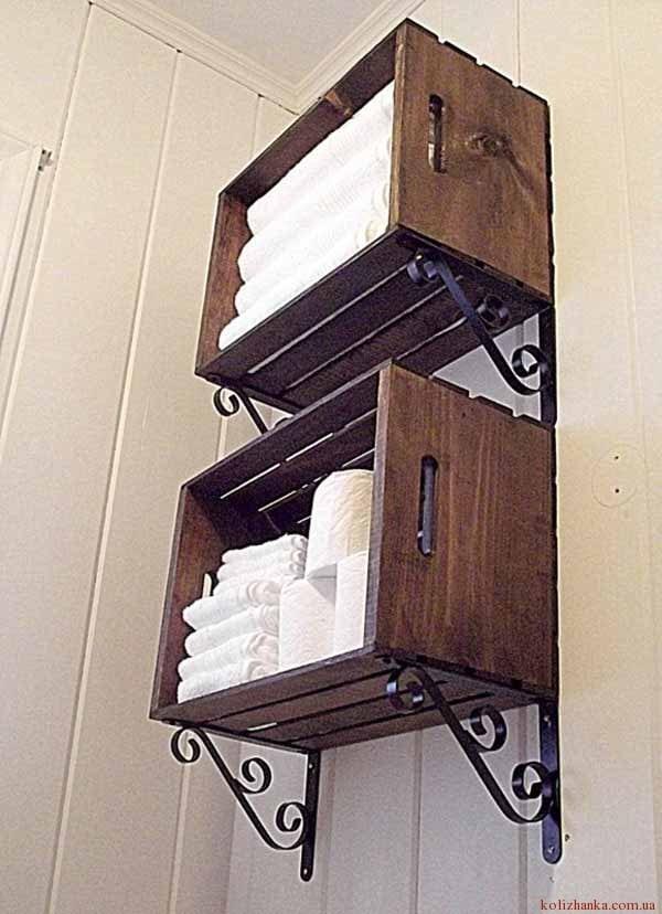 Настінні ящики для ванної кімнати