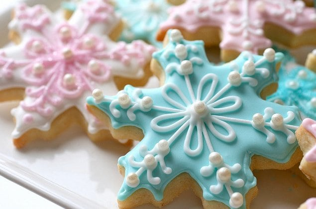 """Цукрове печиво """"Сніжинки"""""""