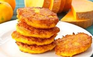 Печені гарбузові оладки: рецепт приготування в духовці