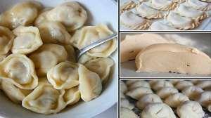 Дуже смачне універсальне заварне тісто для вареників, пельменів, і чебуреків