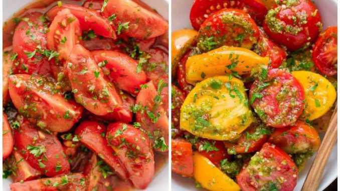 Мариновані помідори по-італійськи за 30 хвилин