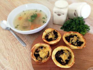 Картопляні тарталетки з грибами: рецепт з фото
