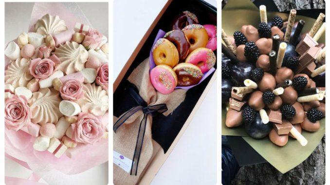 Солодкі букети своїми руками: композиції з цукерок, шоколаду та зефіру (ідеї з фото)