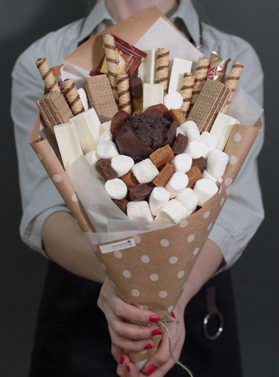 сладкий букет своими руками