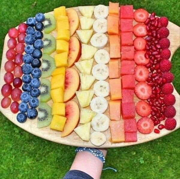 оформление фруктов на тарелке