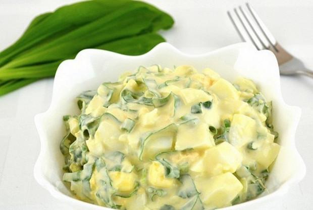 Рецепти салатів із черемші