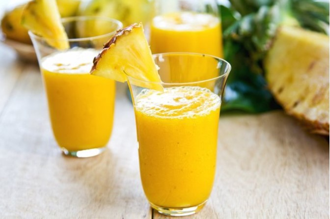 Манго + ананас + молоко