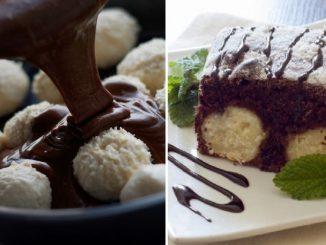 Шоколадний пиріг з сирно-кокосивими кульками