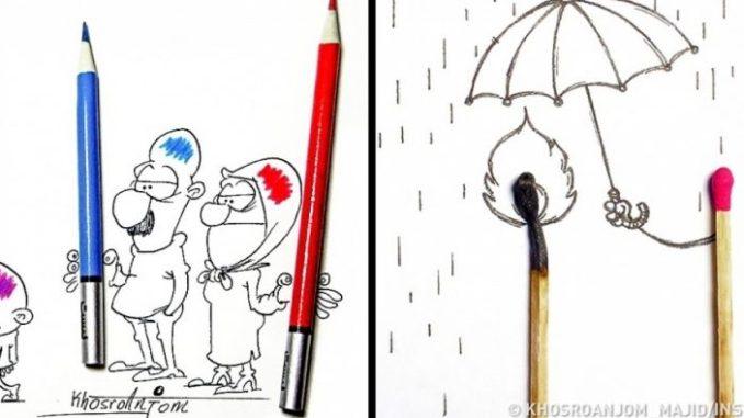 Іранський художник пояснює всю суть нашого життя з допомогою олівця і кількох предметів