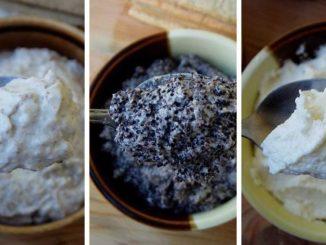 3 види крему до пляцків: маковий, манний, горіховий
