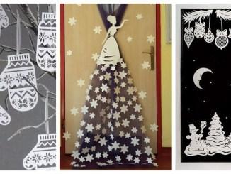 Готуємось до зими: новорічний декор в школу та садок (33 фото-ідеї)