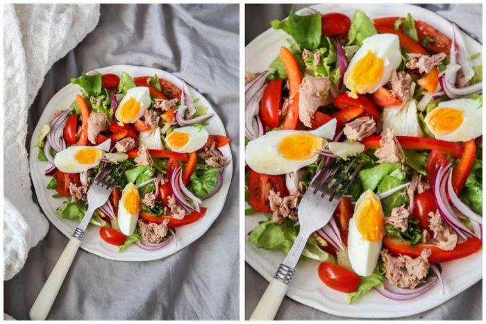 Італійський салат з тунцем та болгарським перцем