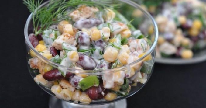 Рецепти на Новий рік - салати з квасолею