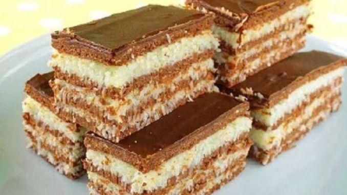 Ніжний торт без випічки із кокосовим кремом